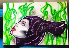 Maleficent 80x62cm boxed canvas