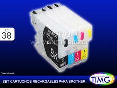 "Cartuchos Recargables para Brother Lc38 para Rellenar multiples veces ""No Mas Cartuchos"" - http://www.suministro.cl/product_p/5107020102.htm"