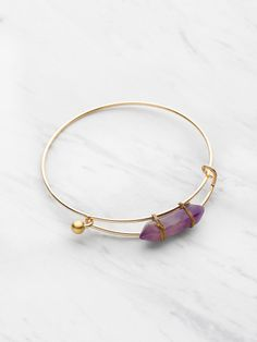 Random Stone Adjustable Bracelet