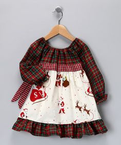 This delightfully festive frock will get any little sweetie excited for the holidays. Seasonal coloring and darling little details make it extra-sweet and hard to beat.