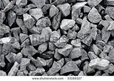 Grey granite gravel - stock photo
