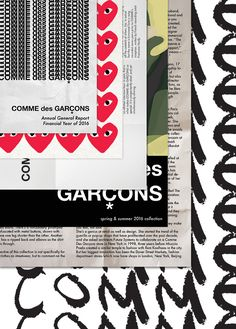 Podívejte se na tento projekt @Behance: \u201cCOMME des GARÇONS—Annual General Report\u201d https://www.behance.net/gallery/40530737/COMME-des-GARCONSAnnual-General-Report