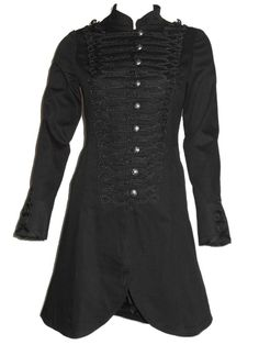 Sale Clearance 40% Off H&R Military Brocade Coat Cotton Stretch UK 8, 10  BIG SALE NOW ON AT mouseyessim on ebay