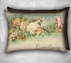 Ostern Kissen schlafen Covergirl und von TheOldBarnDoor auf Etsy