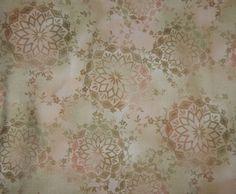 cotton quilt fabric blender floral batik Ohana Maywood Studio tan cream rose BTY #MaywoodStudio