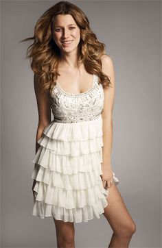 Sue Wong Embellished Chiffon & Mesh Babydoll Dress via @Nordstrom #wedding