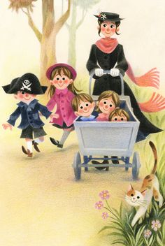 Mary Poppins in the park Genevieve Godbout