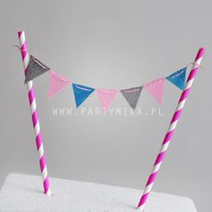 Mini girlanda na tort pink and grey