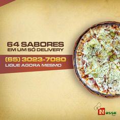 64 SABORES em um só Delivery.  Ligue agora mesmo e escolha a sua Pizza.  Nosso Delivery: (065) 3023-7080    #nossapizza #delivery #reservas #atendimento #terçasaosdomingos #pizza #delícia #pediuchegou #surpreenda #peçajá #vontadedecomer    Nós atendemos e reservamos das terças aos domingos a partir das 18 horas.  Nosso Delivery: (65) 3023-7080  Nossa Pizza Centro  Av. Presidente Marques , N°830, Centro Norte  Cuiabá, MT