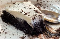 slice of french silk pie| lowcarb-ology.com   Very #low-carb, very rich, and perfect #dessert for the #holidays