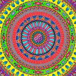 HELLOANGEL Aztec Rainbow Mandala by Hello Angel Creative