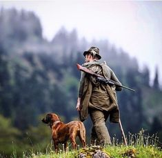 Hunting in Germany w Dog (Steiner Optics- Ranger Scope- ad) Hunting Rifles, Duck Hunting, Hunting Stuff, Peter Wohlleben, Image Nature, Hunting Season, Hunting Clothes, Biker Style, Country Life