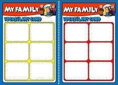 FAMILY BOARD GAME VOCABULARY CARDS http://eslchallenge.weebly.com/