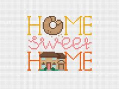 Home Sweet Home, The Simpsons  - Cross Stitch Pattern (PDF) - INSTANT DOWNLOAD on Etsy, $5.29