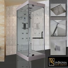 insignia rs100 luxury steam shower enclosure - Luxury Steam Showers
