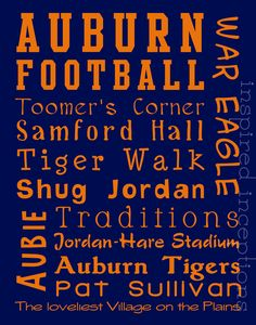Auburn Suway Art 11x14 by InspiredInceptions on Etsy, $20.00