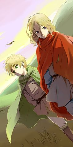 Hetalia (ヘタリア) - England & France<--I don't ship it, but they are so totally the cutest friends. they deny it but I know they are.