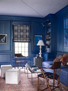 Thom Filicia's Blue Living Room