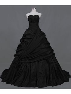 Black Ball Gown Gothic Wedding Dress by DEVILNIGHTUK.deviantart.com on @deviantART