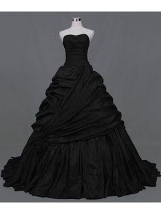 Black Ball Gown Gothic Wedding Dress by DEVILNIGHTUK.deviantart.com on @deviantART