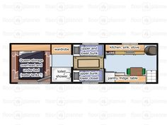 Post Your Floor Plans! Here Is The Floor Plan Of My Bus As Seen In Ben  Rosanderu0027s Book Bus Conversion Floor Plans .