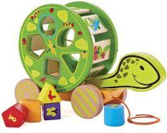 Amazon.com: Hape Eco Toys / Pull-Along Turtle Shape Sorter: Baby