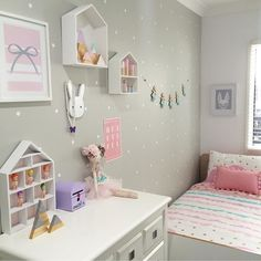 Gorgeous room by the lovely @hailsk83 featuring our spotty mountain set in light blue pastel pink and purple and a set of our glitter tips on silver....sooooo pretty!