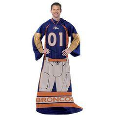 """Denver Broncos Player 48"""" x 71"""" Comfy Throw Blanket"""