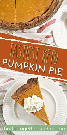 This keto pumpkin pie recipe from Butter Together Kitchen is a mouth-watering fall recipe to add to your Thanksgiving menu! This recipe is a wonderful for both kids and adults alike. The whole family will enjoy this keto pumpkin pie this holiday season! Keto Pumpkin Pie, Pumpkin Pie Recipes, Canned Pumpkin, Pumpkin Cheesecake, Fall Recipes, Sweet Recipes, Fall Desserts, Delicious Desserts, Dessert Recipes