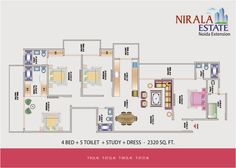 Nirala Estate 2/3/4 BHK residential apartments interiors of the house have been made as peaceful could be possible.