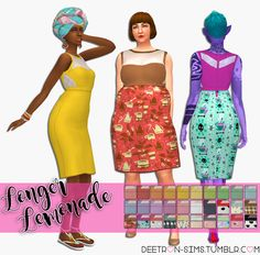 lilsimsie faves — deetron-sims: New Mesh! A longer and less poofy...