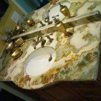 Столешницы из оникса для ванных комнат | Столешницы для ванной из натурального…