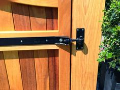 Ironmongery and hinges - Mitech joinery Drive Gates, Types Of Hinges, Wooden Gates, Joinery, All Design, Door Handles, Hardwood, Flooring, Wood Gates