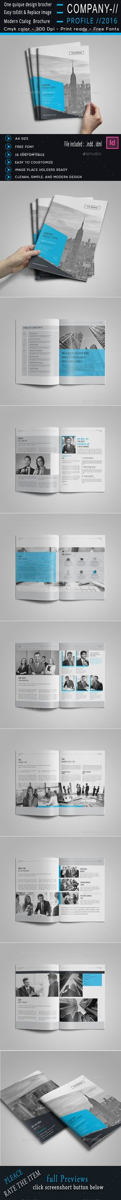 Company Profile Company profile, Brochure template and Brochures - company profile templates