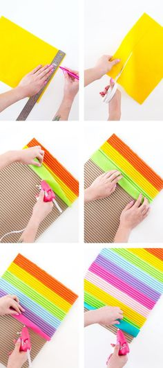 How to Make a Rainbow Felt Letter Board