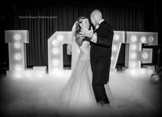 Letters and Dry Ice 1st Dance provided by Gary at www.KillaParty.co.uk Photo by Stephen Bailey Photography