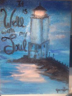 Oil paint light house