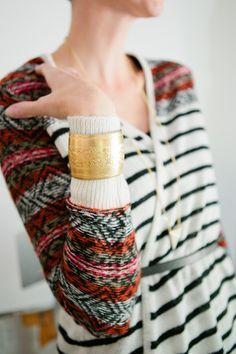 Brass Botanicals Bracelet