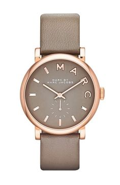 """Nordstrom  """"MARC BY MARC JACOBS 'Baker' Leather Strap Watch"""
