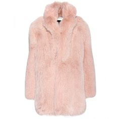 Saint Laurent Fox Fur Coat ($23,500) ❤ liked on Polyvore featuring outerwear, coats, jackets, fur, fox fur coat, yves saint laurent and pink coat