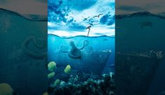 Tutorial on Creating a Realistic Underwater Scene from Stock Images