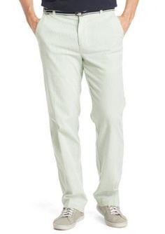 IZOD  Belted Seersucker Pants