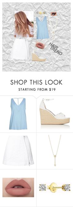"""Rose Gold Chic"" by amierisch ❤ liked on Polyvore featuring beauty, River Island, Tabitha Simmons, Guild Prime, EF Collection, hairtrend and rainbowhair"