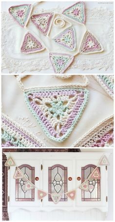 Vintage Candy Shop Bunting - Crochet Pattern + Giveaway