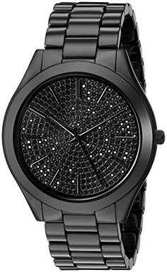 Women's Wrist Watches - Michael Kors Womens Slim Runway Black Watch MK3449 -- For more information, visit image link. (This is an Amazon affiliate link)