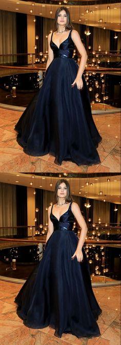 Sexy V Neck Long Prom Dress, Formal Evening Dress,Custom Made Evening Dress 10042