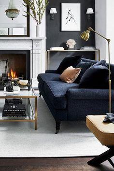 Living Room Grey, Formal Living Rooms, Home Living Room, Living Room Designs, Living Room Decor, Modern Living, Small Living, Living Room Inspiration, Home Decor Inspiration