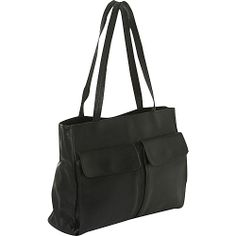 #Business, #LadiesBusiness - Clava Two Pocket Tote - Vachetta Black