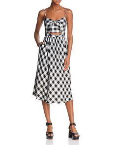 ba176117dde1 Bardot Cutout Gingham Midi Dress Women - Dresses - Bloomingdale s