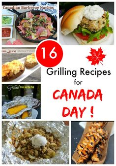 Here are 16 Grilling Recipes for Canada Day which include appetizers, burgers, meal idea, sides and desserts! Pork Rib Recipes, Barbecue Recipes, Side Dish Recipes, Grilling Recipes, Grilling Ideas, Steak Recipes, Chicken Recipes, Nachos, Bbq Food List